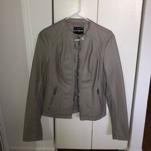 Taupe Express Leather Jacket